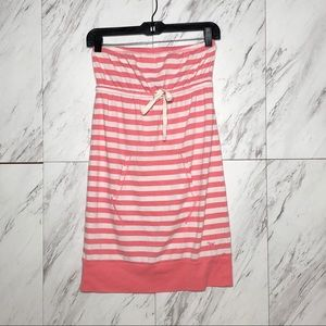 EUC VS Pink Stripe Tube Drawstring Pocket Dress S